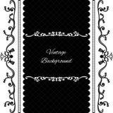 Vintage background frame design black. Vector Royalty Free Stock Images
