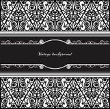 Vintage background frame design black vector Stock Image