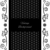 Vintage background frame design black. Vector retro Royalty Free Stock Photography