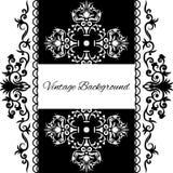 Vintage background frame design black. Vector, save the date Stock Photography
