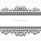 Vintage background frame design  victorian style Stock Photo