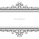 Vintage background frame design  victorian style Stock Photography