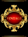 Vintage background frame with gold(en) pattern Royalty Free Stock Image