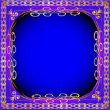 Vintage background frame with gold(en) pattern Royalty Free Stock Photography