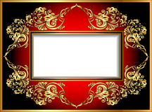 Vintage background frame with gold ornaments Royalty Free Stock Photos