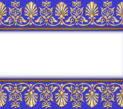 Vintage background frame with gold ornaments Royalty Free Stock Photo