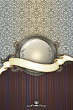 Vintage background with frame,ribbon and elegant patterns. Royalty Free Stock Images