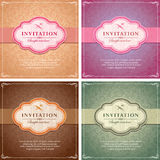 Vintage Background Frame Template Stock Photography