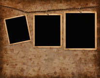 Vintage background with frames Royalty Free Stock Images