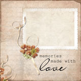 Vintage background with frames Stock Photos