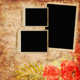 Vintage background with frames Royalty Free Stock Photo