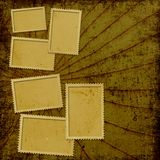 Vintage background with frames Stock Images