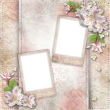Vintage background with frames Royalty Free Stock Photos