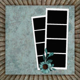 Vintage background with frames and flower Stock Photos