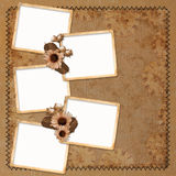 Vintage background with frames and flowers Royalty Free Stock Images