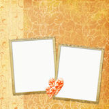 Vintage Background with frames and heart Royalty Free Stock Images