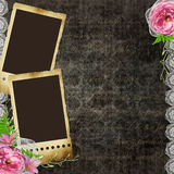 Vintage background with frames for photos Royalty Free Stock Images