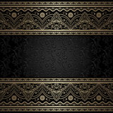 Vintage background with gold borders Royalty Free Stock Photography
