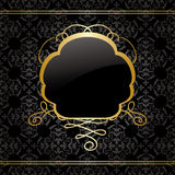Vintage background with gold decorations - vector Royalty Free Stock Images