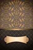 Vintage background with gold frame. Stock Image