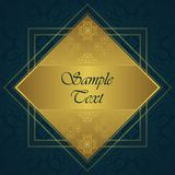 Vintage background. Gold frame. Lace decorative elements vector illustration