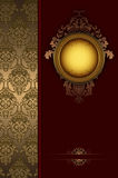 Vintage background with gold patterns. Stock Photo
