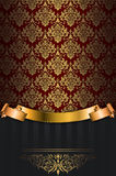 Vintage background with gold patterns. Stock Images