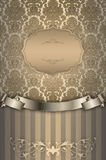 Vintage background with gold patterns. Royalty Free Stock Photography