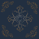 Background with golden elements Royalty Free Stock Photography