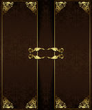 Vintage background with golden elements Stock Photo