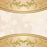 Vintage background with golden floral decoration Stock Image