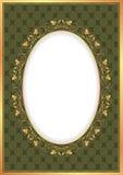 Vintage background. With golden frame Stock Image