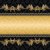 Vintage background golden frame. Black Vintage background golden frame Royalty Free Stock Photo