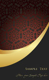 Vintage background golden frame with copy space Royalty Free Stock Photos