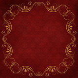 Vintage background with golden swirls Royalty Free Stock Image