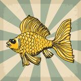 Vintage background with goldfish Stock Image