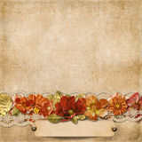 Vintage background with gorgeous flowers Stock Images