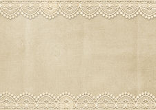 Vintage background with gorgeous lace. Vintage background with lace, with place for photos or notes. page family album or congratulations. book cover, title page Royalty Free Stock Photo