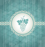Vintage background with grapevine label Royalty Free Stock Photography