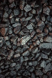 Vintage background of gravel. film grain. Texture of a wet road. One of a million. A special and outstanding object Stock Images
