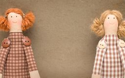 Vintage background with handmade doll Royalty Free Stock Image