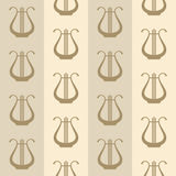 Vintage background with harps Stock Photography