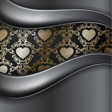 Vintage background with heart Stock Photo