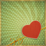 Vintage  background with heart and ribbon Royalty Free Stock Photo