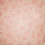 Vintage background with hearts Royalty Free Stock Photography