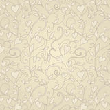 Vintage background with hearts ornament Stock Image