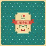 Vintage Background with Hipster Label Stock Photos