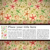 Vintage background with horizontal place for text. Royalty Free Stock Photo