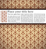 Vintage background with horizontal place for text. Royalty Free Stock Images
