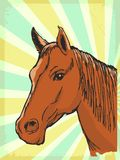 Vintage background with horse Stock Photos